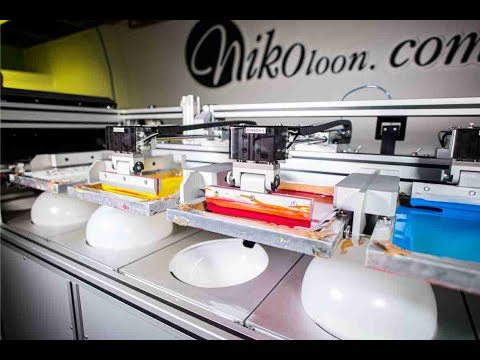 Five Colour Screen Printing Machine For Balloons