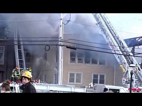 KEYPORT NEW JERSEY 5TH ALARM WORKING FIRE 4/8/16 HEAVY FIRE IN MULTIPLE BUILDINGS