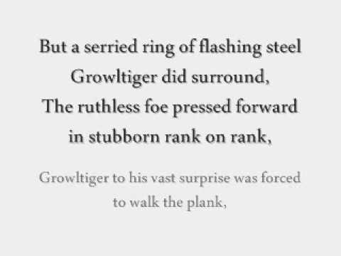 CATS [Original London Cast Recording]; 'Growltiger's Last Stand' Lyrics