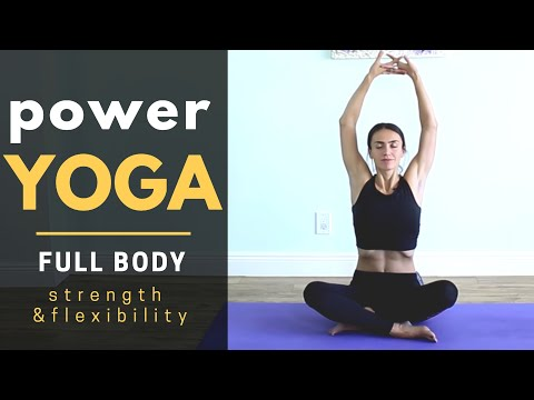 power vinyasa yoga for strong arms  shoulders  weight