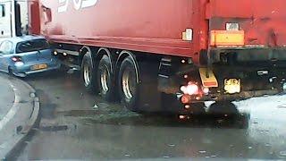 Dashcam UK Car VS Lorry Accident