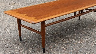 $15 Garage Sale Mid Century Table Gets a Refinish