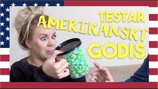TESTAR AMERIKANSKT GODIS