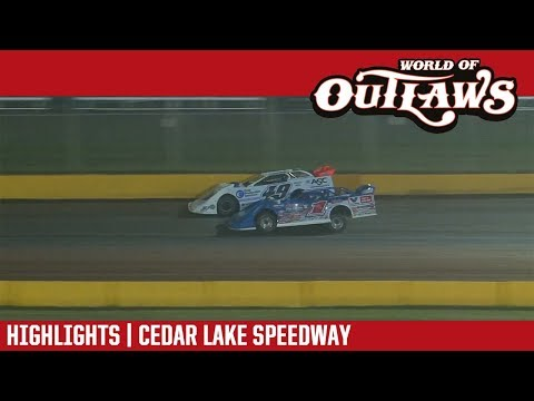 World of Outlaws Craftsman Late Models Cedar Lake Speedway August 2, 2018 | HIGHLIGHTS