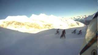 10. Glacier Bike Snowdownhill Saas Fee 2013, Go Pro Run, 2nd place
