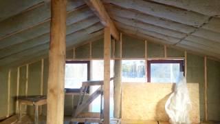 Перестройка деревянного дома. Утепление второго этажа