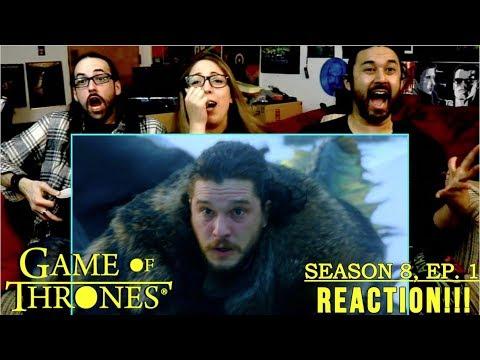 GAME OF THRONES Season 8 Episode 1 'Winterfell' - REACTION!!!