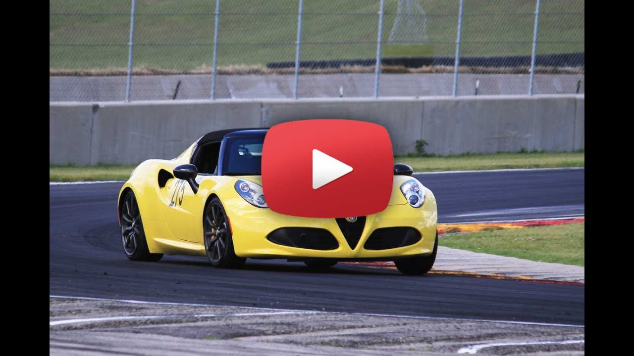 Alfa Romeo 4c spider Track Pack: проверка на зрение и слух