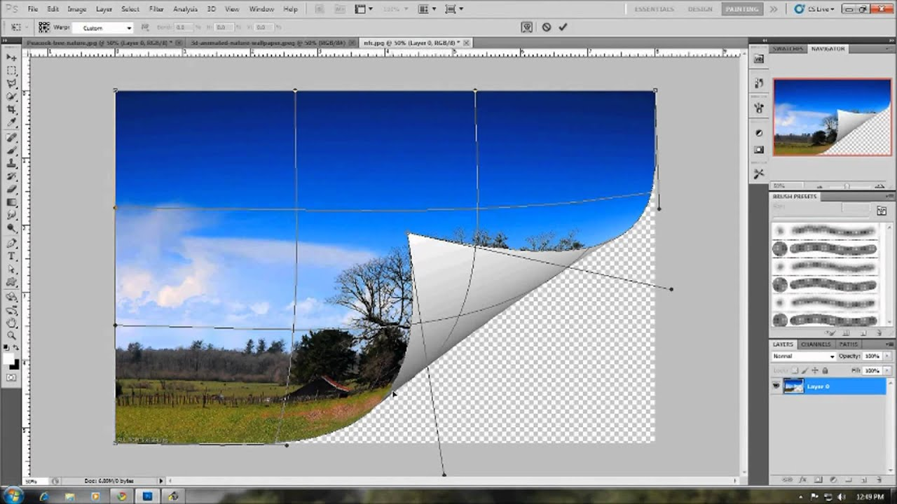 Page Curl Effect In Photoshop HD