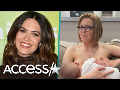 Mandy Moore Calls Breastfeeding Baby Gus A Beautiful, Messy Experience