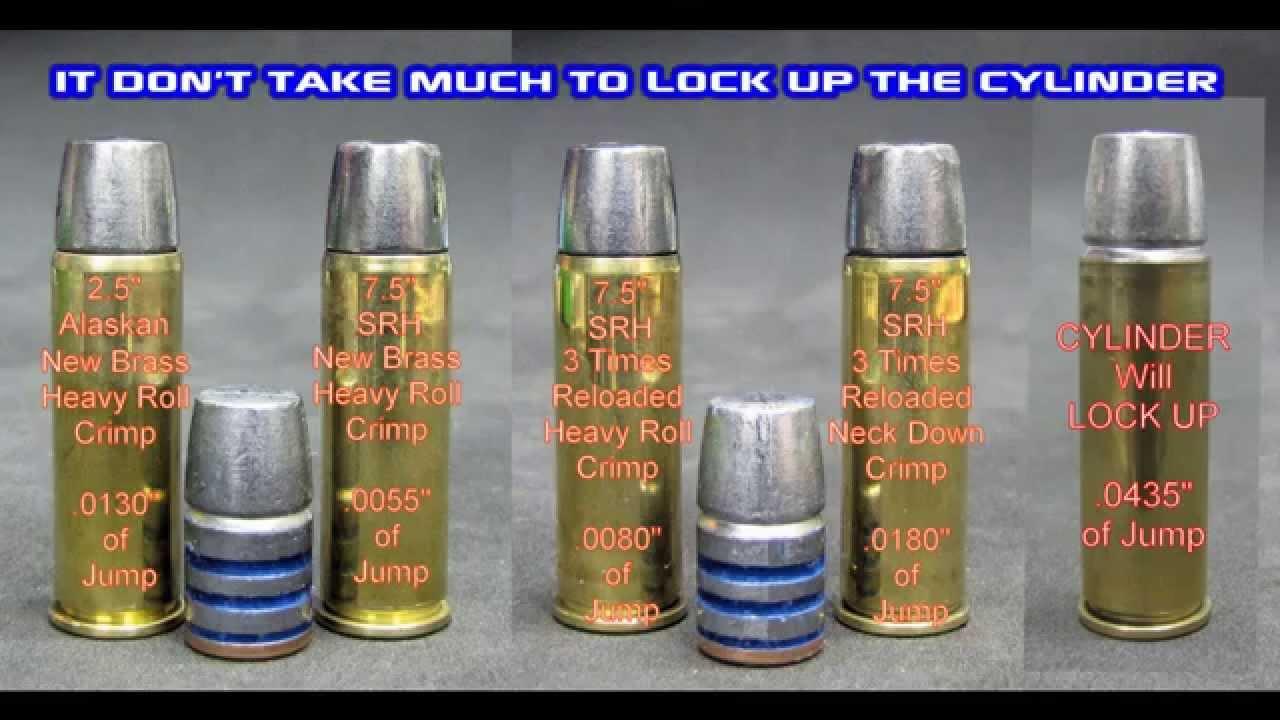 454 Casull Crimp Jump & Cylinder Lock Up Observations - YouTube