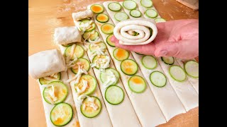 Секрет вкусной начинки в тонкой нарезке кабачки вместо хлеба