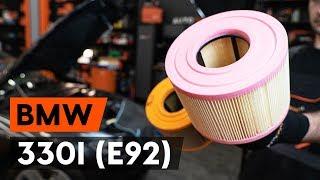 Noskatieties video ceļvedi par to, kā nomainīt Gaisa filtrs uz BMW 3 Coupe (E92)