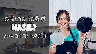 Pişirme kağıdı NASIL? yuvarlak kesilir | Merlin Mutfakta Mutfak İpuçları