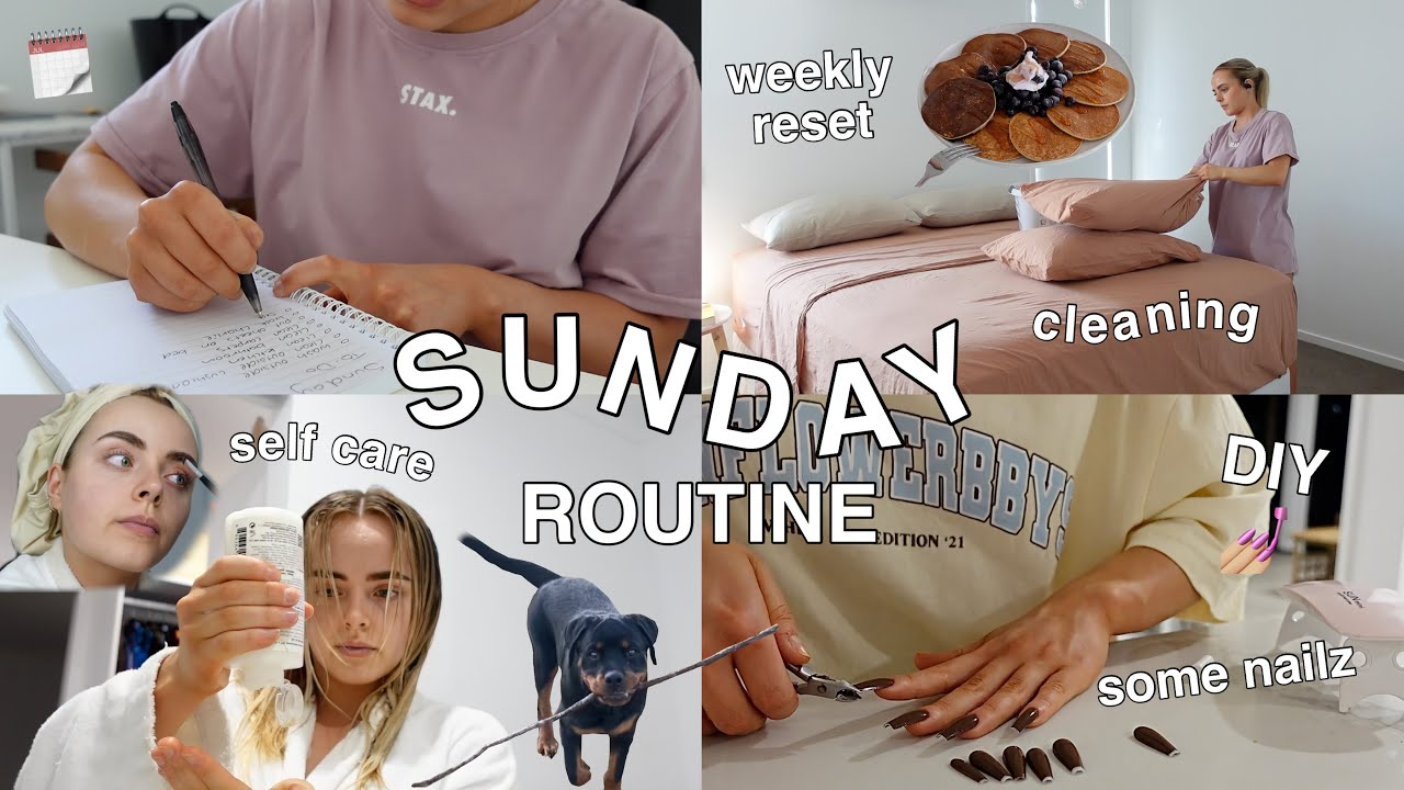 SUNDAY SELF-CARE & RESET ROUTINE | CLEANING | ORGANISING MY WEEK | DIY NAILS & MORE! Conagh Kathleen