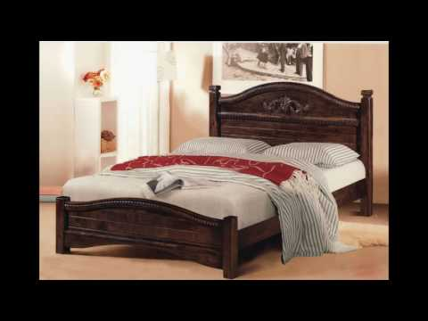 Solid Wood Bed Frame and Headboard Designs - YouTube