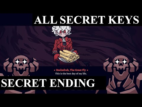 Helltaker - All Secret Keys Location + Secret Ending (Pathtaker + Abysstaker Achievement)