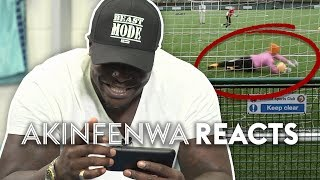 Akinfenwa Reacts To The WORST Goalkeeper On YouTube! | Stat Football ⚽ (HILARIOUS)