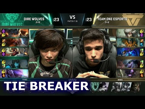 Dire Wolves vs Team oNe eSports - Tie Breaker | S7 LoL Worlds 2017 Play-in Stage | DW vs ONE G3