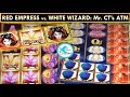 White Wizard & Red Empress Slot Machines: 2 Bonuses w/ BIG WIN!