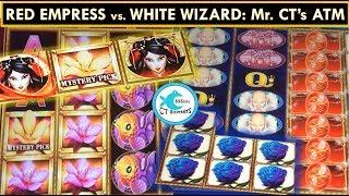 White Wizard & Red Empress Slot Machines: 2 Bonuses w/ BIG WIN!