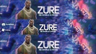 Fortnite Banner Speedart | | @Zure | | Free Banner Monday