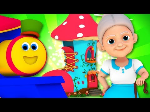 Old Woman Who Lived In A Shoe | Bob The Train | Kindergarten Songs For Kids