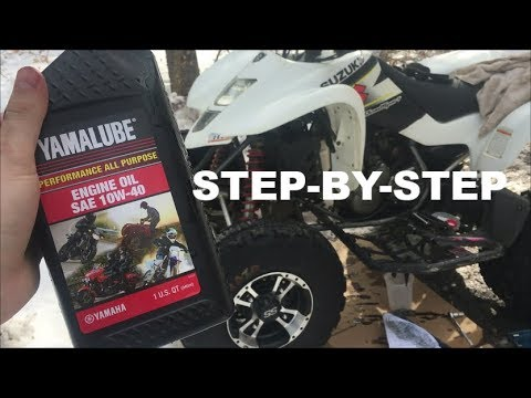How to Change the Oil on a 03-08 LTZ400/KFX400 - YouTube