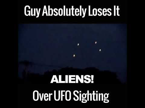 Guy Absolutely Loses It Over Ufo Sighting