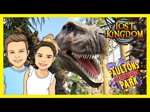 PAULTONS PARK - Theme Park Fun featuring the new LOST KINGDOM Dinosaur Theme Park!