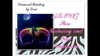 Diamond Painting Unboxing & First Impression - ARMYQZ Store on Ali Exprss - Rainbow Winged Pegasus