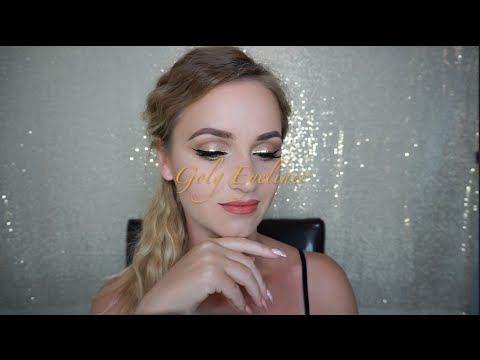 GOLD EYELINER AND FOUNDATION ROUTINE