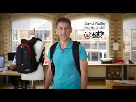 Hi-tech backpack that becomes a frontpack invented by British engineer