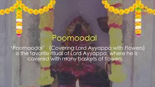 Makara Jyothi 2020 Ceremonies: Poomoodal - Covering Lord Ayyappa with Flowers