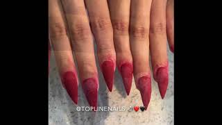 Red Bottom Engagement Nails