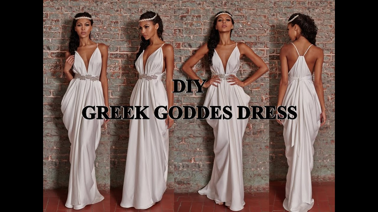 Diy Costume Greek Goddess Toga Dress Amp Half Crown Youtube