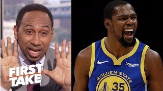 Stephen A.: \'You\'ve got to be crazy\' to think anyone can surpass Kevin Durant | First Take