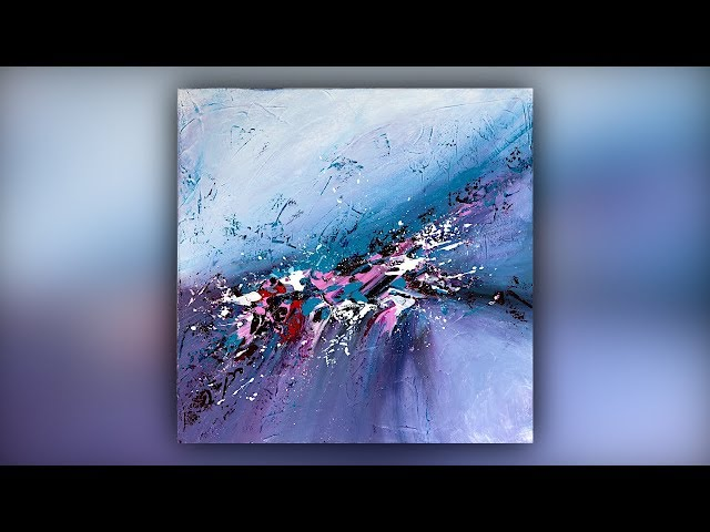 Easy Abstract Painting Technique / Gesso / Palette Knife / Demo #065