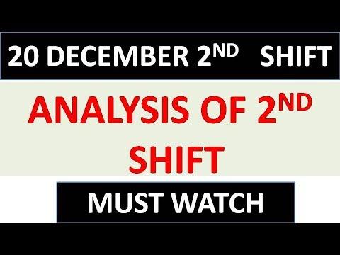 EVENING SHIFT ANALYSIS || 20 DECEMBER || PAPER 1