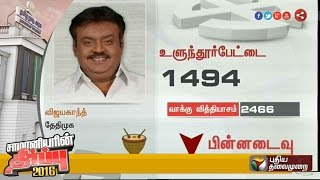 TN poll update: Vijayakanth goes to third place in Ulundurpet constituency