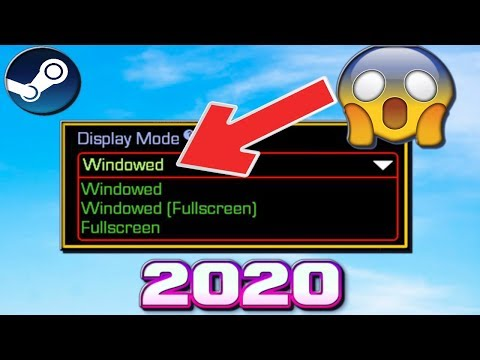 How To Make Steam Games Windowed/Full-screen - Without A Program (2020)