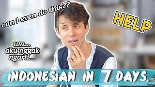 I Learned Indonesian in 7 DAYS!