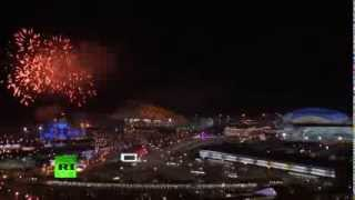 Как погас Олимпийский огонь в Сочи и последний салют Олимпиады