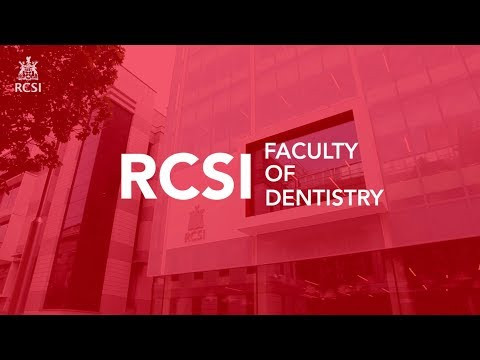 The Dean's Welcome - Faculty of Dentistry, RCSI