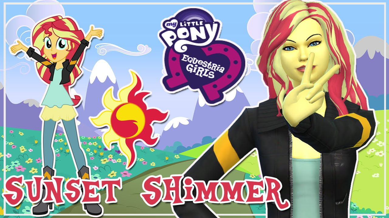 sunset shimmer my little pony equestria girl cas the sims 4