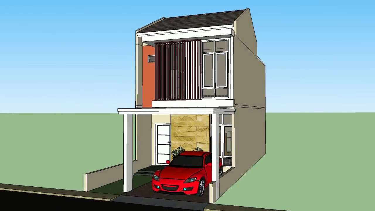5700 Koleksi Gambar Rumah 2 Lantai Lebar 3 Meter HD