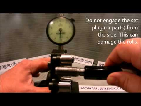 HOW TO Set a Tri-Roll Screw Thread Comparator Indicator to Zero