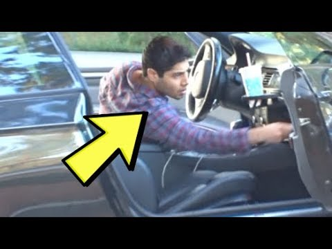 """ULTIMATE Bait Car Prank In The Hood! [instant Karma] - Justice - """"Social Experiment"""" - Car Open"""