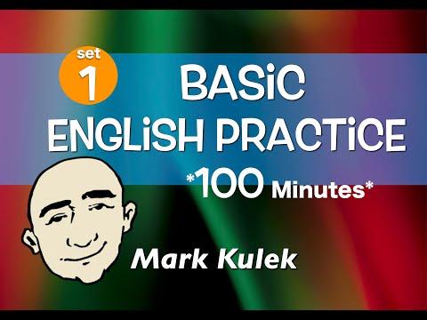 English Speaking Practice - 100 Minutes with Mark Kulek  | English for Communication - ESL
