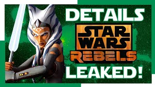 NEW STAR WARS REBELS SEQUEL SERIES DETAILS! LEAKED!